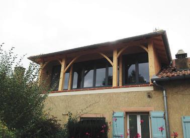 Extension bois d'une habitation à Estang